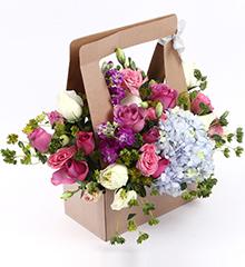 18朵紫玫瑰白玫瑰