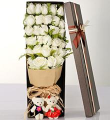 33支白玫瑰