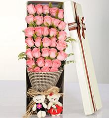 33支粉玫瑰