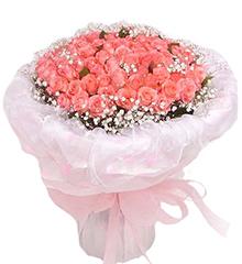 嫁给我吧:108枝粉玫瑰