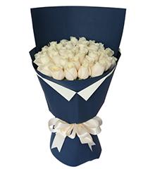 海洋之心:白玫瑰29枝