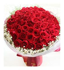 LOVE 99:99枝精品红玫瑰花束