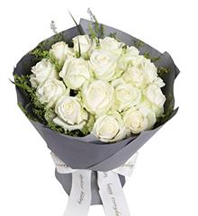 最初的梦想:白玫瑰16枝
