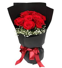 黑夜之光:红色玫瑰11枝,满天星
