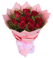 爱唯一:11朵顶级红玫瑰,黄莺搭配
