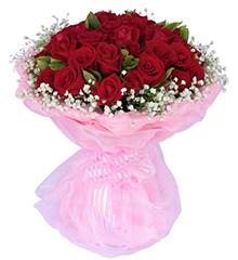 恋爱时刻:19朵顶级红玫瑰,配绿叶和满天星