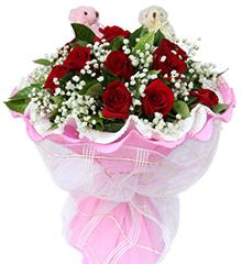 遇见:11枝红玫瑰,5寸小熊2只
