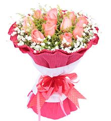 爱的味道:11枝粉玫瑰