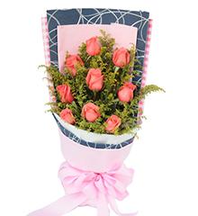 爱情密码:9枝粉玫瑰