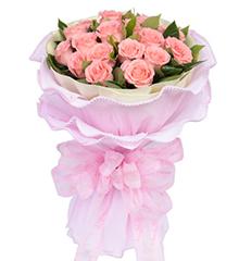 浪漫爱情诗:19枝粉玫瑰