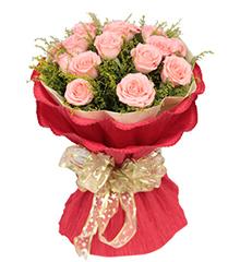 夏之恋:19枝粉玫瑰