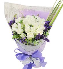 天使爱恋:20枝白玫瑰