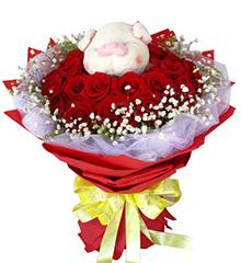 爱在心中:22枝红玫瑰