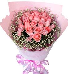 当我遇见你:20枝粉玫瑰