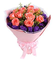唯一:11枝粉玫瑰