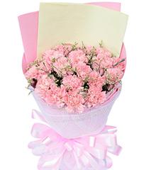 爱•不变:19枝粉康乃馨