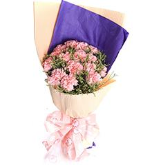 最深的祝福:12朵粉色康乃馨