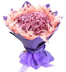 紫爱浪漫:只(紫)爱浪漫,紫色彩玫瑰33朵