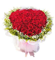 约定:99枝红玫瑰(心型)