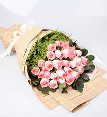 幸福频率:33朵粉玫瑰