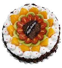 圈圈爱:圆形鲜奶水果蛋糕