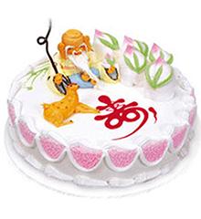 福寿绵长:圆形鲜奶蛋糕