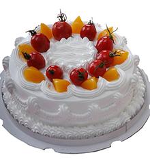 幸福的脚印:圆形鲜奶蛋糕