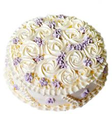 纯爱:圆形鲜奶艺术蛋糕