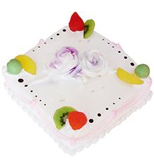 梦幻家园:方形鲜奶水果蛋糕