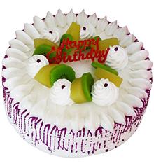 欢聚:圆形鲜奶水果蛋糕