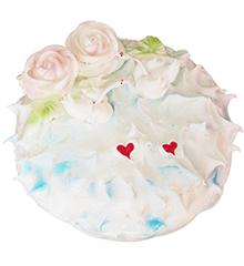 相知相伴:圆形鲜奶蛋糕