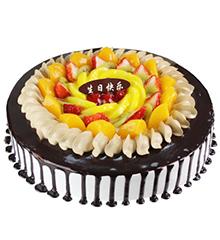 甜蜜团圆:圆形鲜奶巧克力蛋糕