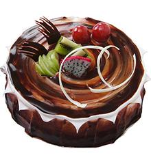 今生只为你:圆形巧克力蛋糕