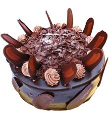 相爱一生:圆形巧克力蛋糕