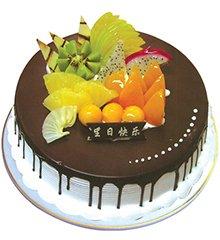 爱浓情亦浓:圆形鲜奶巧克力蛋糕