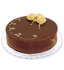情人:圆形巧克力蛋糕