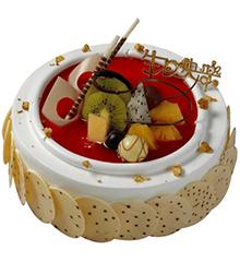 荷塘月色:圆形鲜奶蛋糕