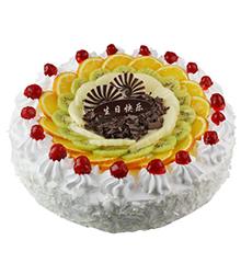 雪上诱惑:圆形鲜奶蛋糕