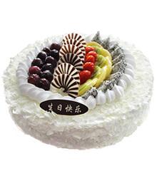 白色田园:圆形鲜奶蛋糕