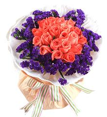 爱勿忘:粉色玫瑰21朵