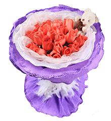 可爱的你:21朵粉玫瑰