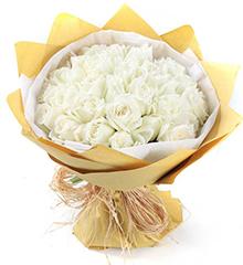爱在你身边:36朵白玫瑰