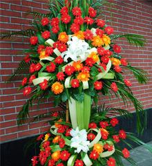 财源滚滚:1.8米高花篮,2层花