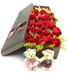 爱的上等点:19朵红玫瑰礼盒