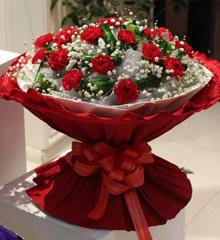 爱的铃声:19朵红色康乃馨