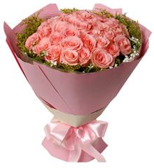 那些年的时光:33枝粉玫瑰,鲜花,礼物,花店