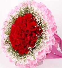 生死不渝:红玫瑰33枝 ,外围黄莺满天星