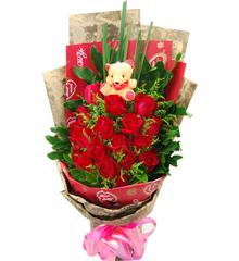 一生爱你:19枝昆明A级红玫瑰