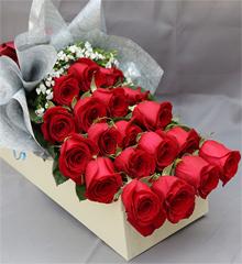 爱的长久:19枝红玫瑰礼盒