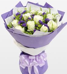 爱之源:11朵白玫瑰花束